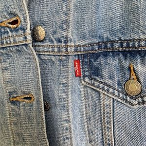 Levi's Jackets & Coats - Levi's Embroidered Ex-Boyfriend Trucker Jacket